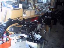 XT 350 beim Zusammenbau